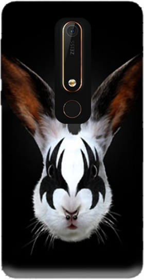 Case Kiss of a rabbit punk for Nokia 6.1