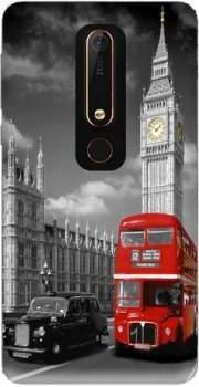 Red bus of London with Big Ben Case for Nokia 6.1