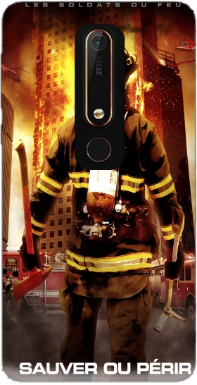 Case Save or perish Firemen fire soldiers for Nokia 6.1