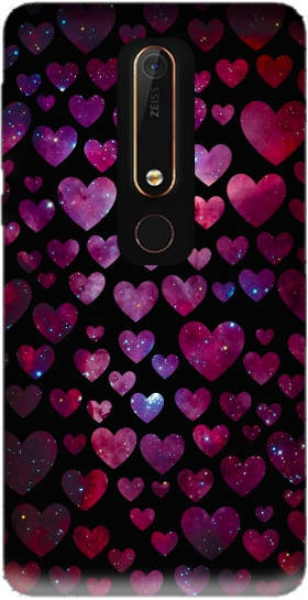 Case Space Hearts for Nokia 6.1