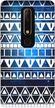 Tribal Aztec Pattern Blue Case for Nokia 6.1