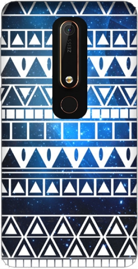 Case Tribal Aztec Pattern Blue for Nokia 6.1