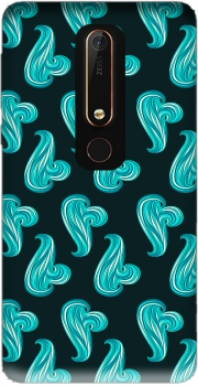 turquoise waves Case for Nokia 6.1