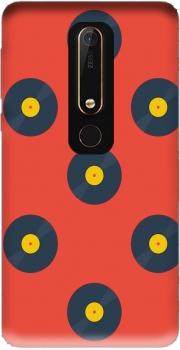 Vynile Music Disco Pattern Nokia 6.1 Case