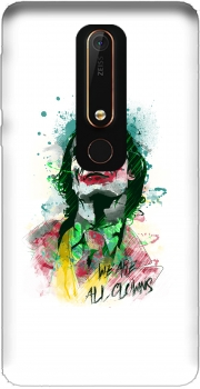 Watercolor Joker Clown Nokia 6.1 Case