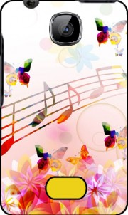 Musical Notes Butterflies Case for Nokia Asha 501