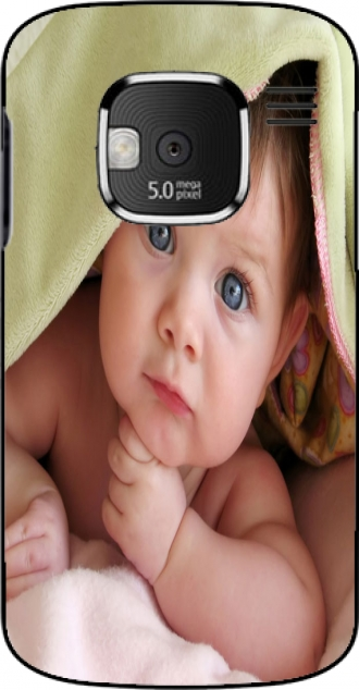 Silicone Nokia E5 with pictures baby