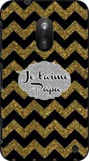 chevron gold and black - Je t'aime Papa Case for Nokia Lumia 620