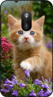 Cute ginger kitten in a flowery garden, lovely and enchanting cat Case for Nokia Lumia 620