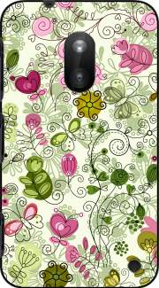 doodle flowers Case for Nokia Lumia 620