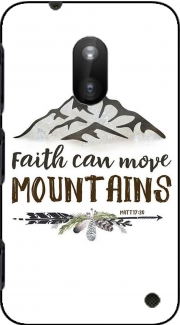 Faith can move montains Matt 17v20 Bible Blessed Art Nokia Lumia 620 Case