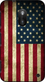 Flag USA Vintage Case for Nokia Lumia 620