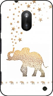 Gatsby Gold Glitter Elephant Case for Nokia Lumia 620