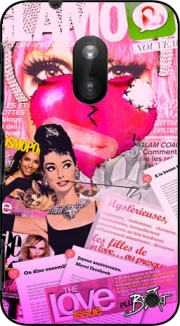 Glamour So Gaga Pink Case for Nokia Lumia 620