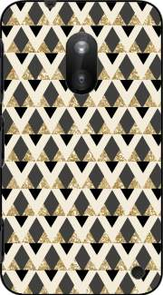 Glitter Triangles in Gold Black And Nude Case for Nokia Lumia 620