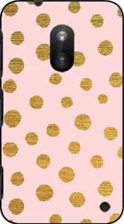 Golden Dots And Pink Case for Nokia Lumia 620