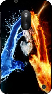 Love duet Ice and Flame Case for Nokia Lumia 620
