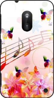 Musical Notes Butterflies Case for Nokia Lumia 620