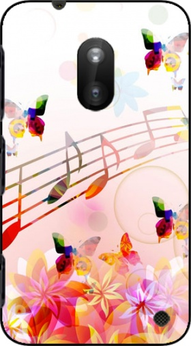 Case Musical Notes Butterflies for Nokia Lumia 620
