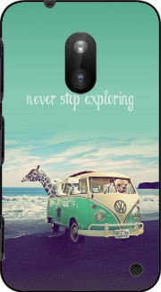 Never Stop Exploring - Lamas on Holidays Case for Nokia Lumia 620