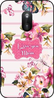Pink floral Marinière - Love You Mom Case for Nokia Lumia 620