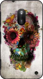 Skull Flowers Gardening Case for Nokia Lumia 620