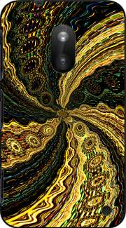Twirl and Twist black and gold Nokia Lumia 620 Case