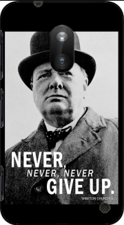 Winston Churcill Never Give UP Nokia Lumia 620 Case