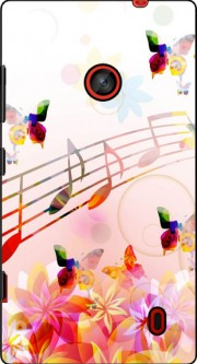 Musical Notes Butterflies Case for Nokia Lumia 630