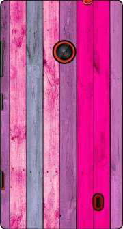 Pink wood Case for Nokia Lumia 630