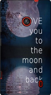 I love you to the moon and back Case for Nokia Lumia 635
