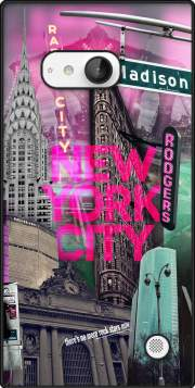 New York City II [pink] Case for Nokia Lumia 735