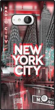New York City II [red] Case for Nokia Lumia 735