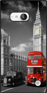 Red bus of London with Big Ben Case for Nokia Lumia 735