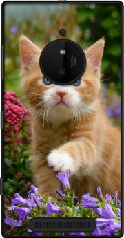 Cute ginger kitten in a flowery garden, lovely and enchanting cat Case for Nokia Lumia 830