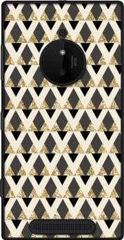 Glitter Triangles in Gold Black And Nude Case for Nokia Lumia 830