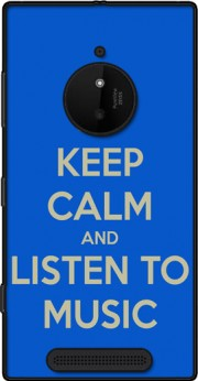 Keep Calm And Listen to Music Case for Nokia Lumia 830