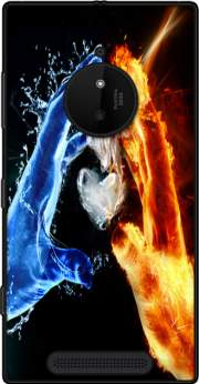Love duet Ice and Flame Case for Nokia Lumia 830
