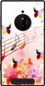 Musical Notes Butterflies Case for Nokia Lumia 830