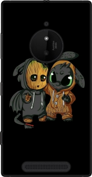 Groot x Dragon krokmou Case for Nokia Lumia 830