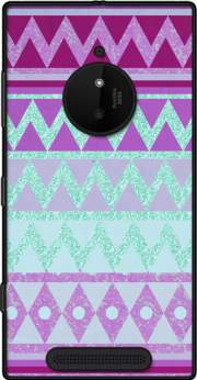 Tribal Chevron in pink and mint glitter Case for Nokia Lumia 830