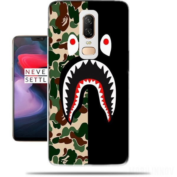 half off b020e e3776 Shark Bape Camo Military Bicolor case for OnePlus 6