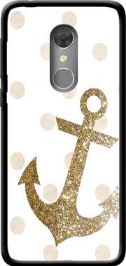 Glitter Anchor and dots in gold Case for Orange Dive 73 / Alcatel 3