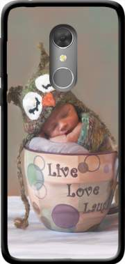 Painting Baby With Owl Cap in a Teacup Case for Orange Dive 73