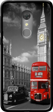 Red bus of London with Big Ben Case for Orange Dive 73