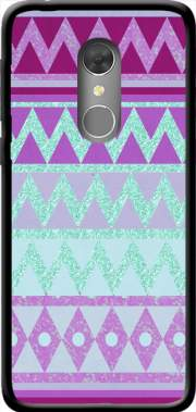 Tribal Chevron in pink and mint glitter Case for Orange Dive 73