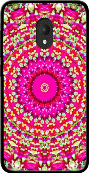 Arabesque Neon Green and Pink Case for Orange Rise 52 / Alcatel U5 4G