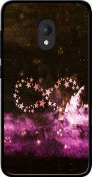 Infinity Stars purple Case for Orange Rise 52 / Alcatel U5 4G