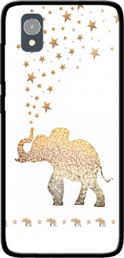 Gatsby Gold Glitter Elephant Case for Orange Rise 54 / Alcatel 1