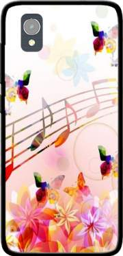 Musical Notes Butterflies Case for Orange Rise 54 / Alcatel 1